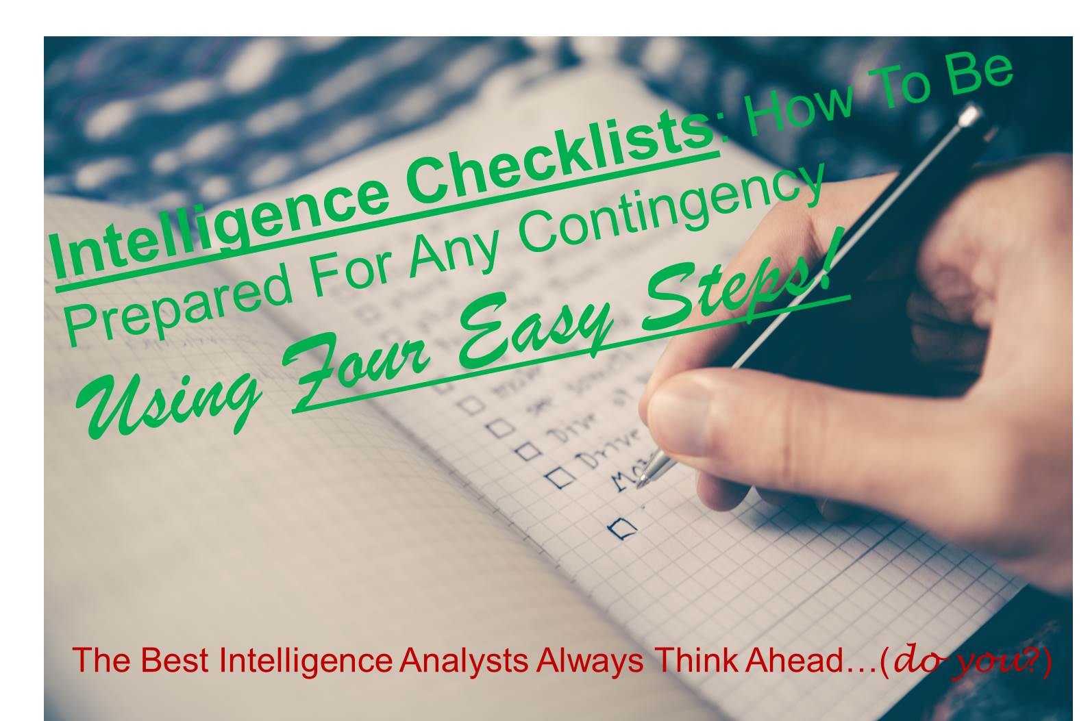 Intelligence Checklists